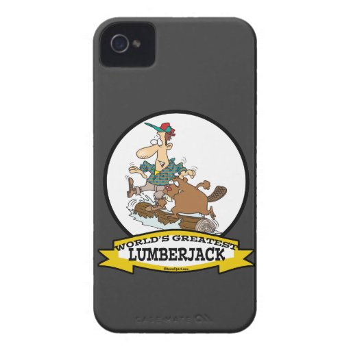 WORLDS GREATEST LUMBERJACK MEN II CARTOON iPhone 4 CASE