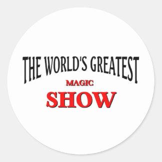 World's greatest magic show round sticker