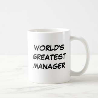 """World's Greatest Manager"" Mug"