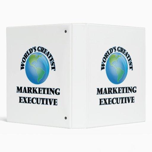 World's Greatest Marketing Executive Vinyl Binder