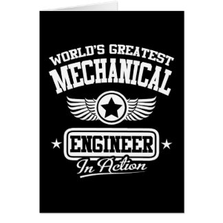 World's Greatest Mechanical Engineer In Action Greeting Card