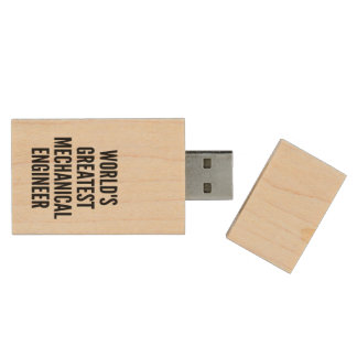 Worlds Greatest Mechanical Engineer Wood USB Flash Drive