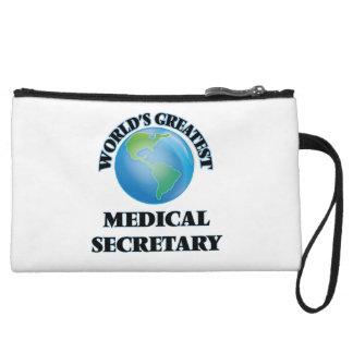 World's Greatest Medical Secretary Wristlet Purse