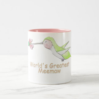 World's Greatest Meemaw Hummingbird Mug