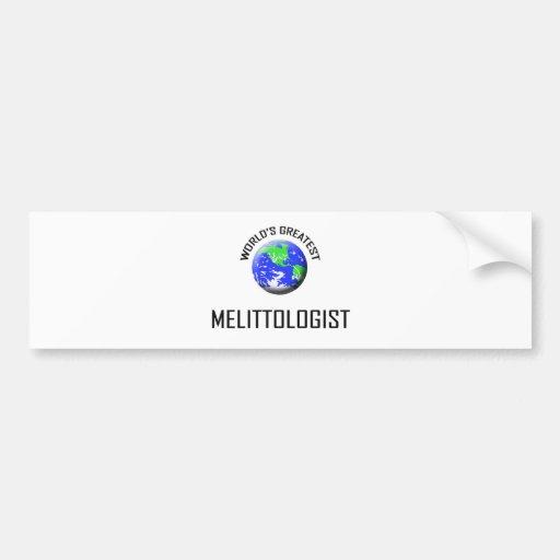 World's Greatest Melittologist Bumper Sticker