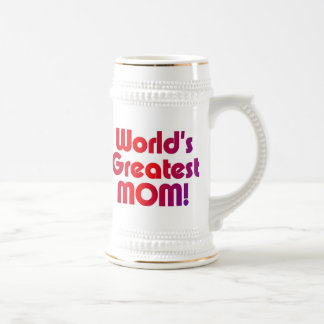 World's Greatest Mom 18 Oz Beer Stein