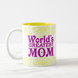World's Greatest Mom and Teacher Two-Tone Coffee Mug
