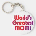World's Greatest Mom Basic Round Button Keychain