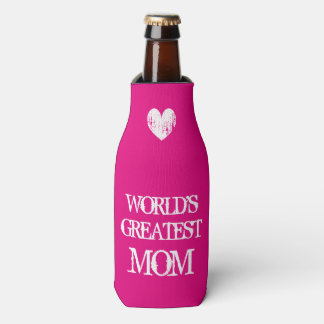 Worlds greatest mom bottle cooler Mothers Day gift