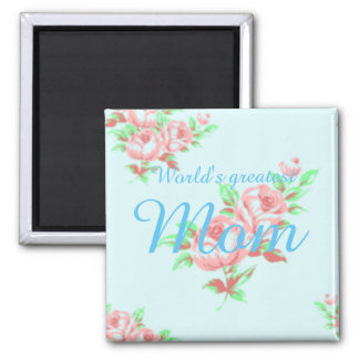 Worlds greatest mom magnent square magnet