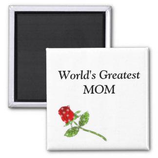 World's Greatest MOM rose Magnet