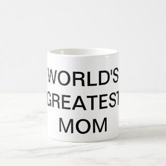 WORLD'S GREATEST MOM Text Coffee Mug Drinkware