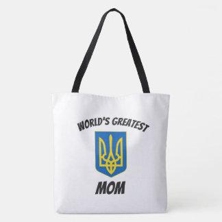 World's Greatest Mom Ukrainian Tryzub Tote Bag