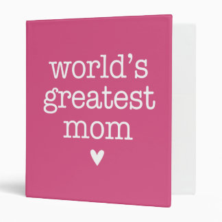 World's Greatest Mom with Heart Binder
