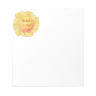 World's Greatest Mom (yellow flower) Notepad