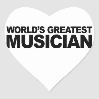 World's Greatest Musician Heart Sticker