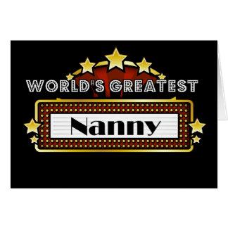 World's Greatest Nanny Card