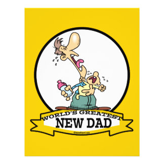 WORLDS GREATEST NEW DAD CARTOON PERSONALIZED FLYER