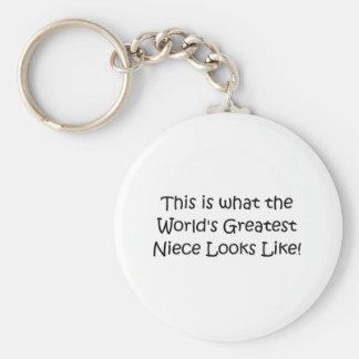 World's Greatest Niece Basic Round Button Keychain