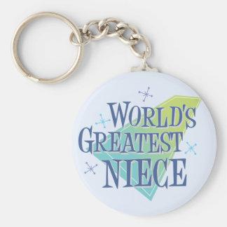 World's Greatest Niece Keychain