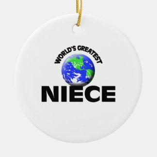 World's Greatest Niece Round Ceramic Ornament