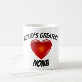 World's Greatest Nona Heart Mug