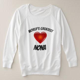 World's Greatest Nona PLUS SIZE Heart Shirt
