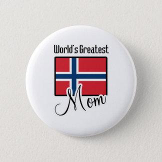 World's Greatest Norway Mom 2 Inch Round Button