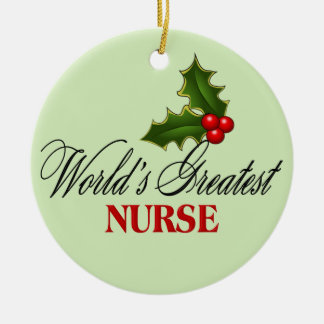 World's Greatest Nurse Ceramic Ornament