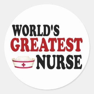 World's Greatest Nurse Classic Round Sticker