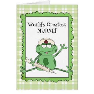 World's Greatest Nurse Note card