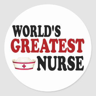 World's Greatest Nurse Round Sticker