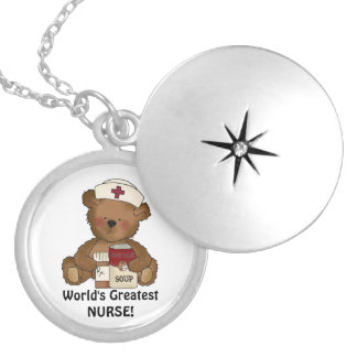 World's Greatest Nurse silver plated necklace