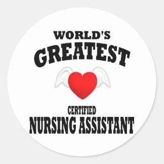 World's Greatest Nursing Assistant Classic Round Sticker