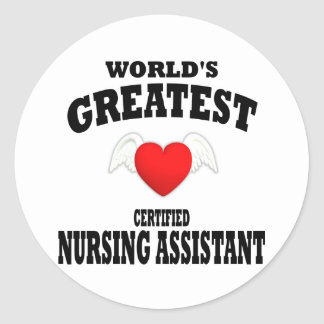 World's Greatest Nursing Assistant Round Sticker