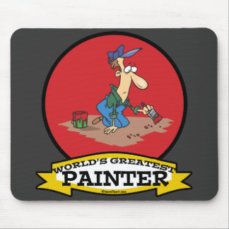 WORLDS GREATEST PAINTER MEN CARTOON MOUSE PAD