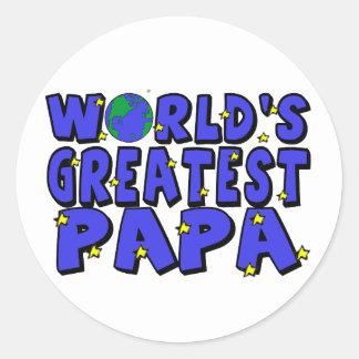 World's Greatest Papa Classic Round Sticker