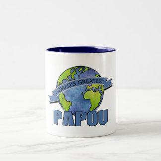 World's Greatest Papou Two-Tone Coffee Mug
