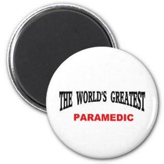 World's greatest Paramedic 2 Inch Round Magnet