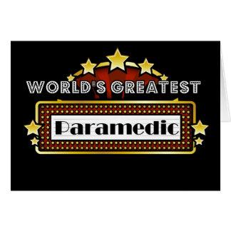 World's Greatest Paramedic Greeting Card