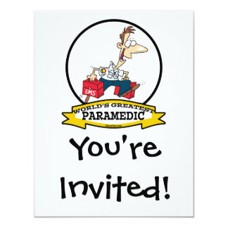 WORLDS GREATEST PARAMEDIC MEN CARTOON CARD
