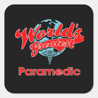 World's Greatest Paramedic Square Sticker