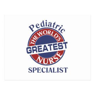 WORLDS GREATEST  PEDIATRIC NURSE SPECIALIST POSTCARD