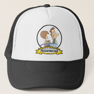 WORLDS GREATEST PEDIATRICIAN MEN CARTOON TRUCKER HAT