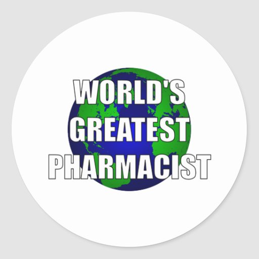 World's Greatest Pharmacist Round Stickers