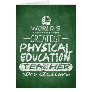 World's Greatest Physical Education PE Teacher Card