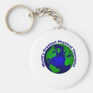 World's Greatest Physical Therapist Basic Round Button Keychain