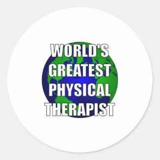 World's Greatest Physical Therapist Round Sticker