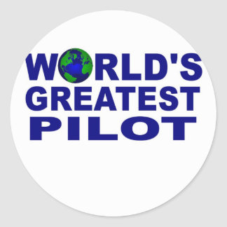 World's Greatest Pilot Round Sticker