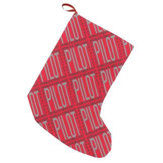 Worlds Greatest Pilot Small Christmas Stocking
